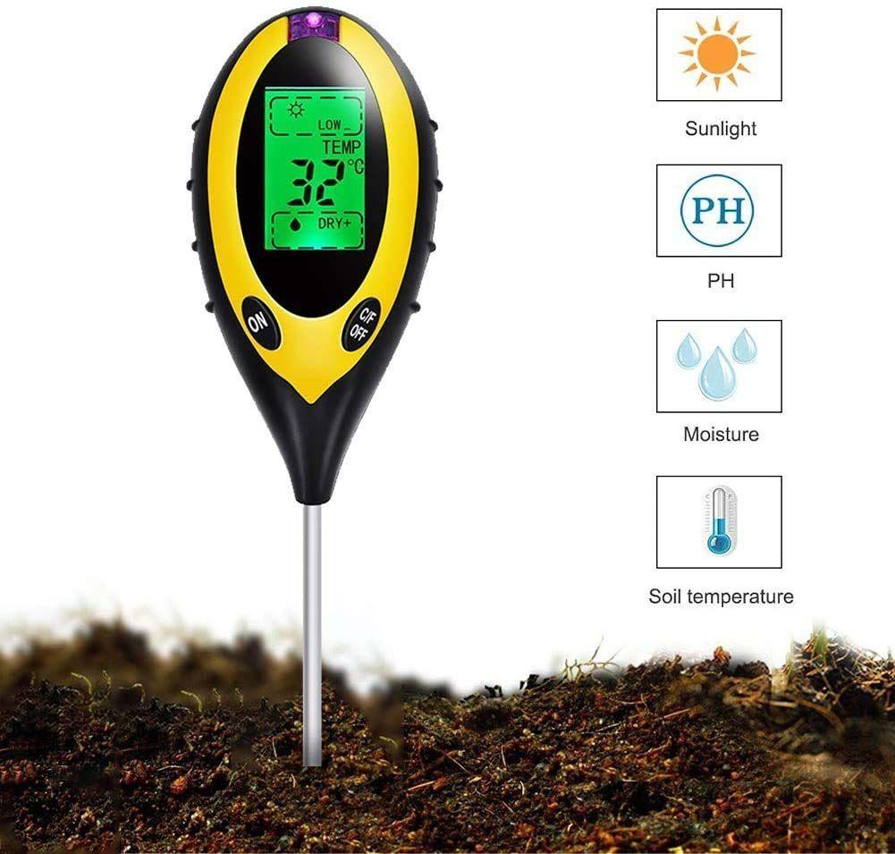 medidor de humedad ph temperatura luz