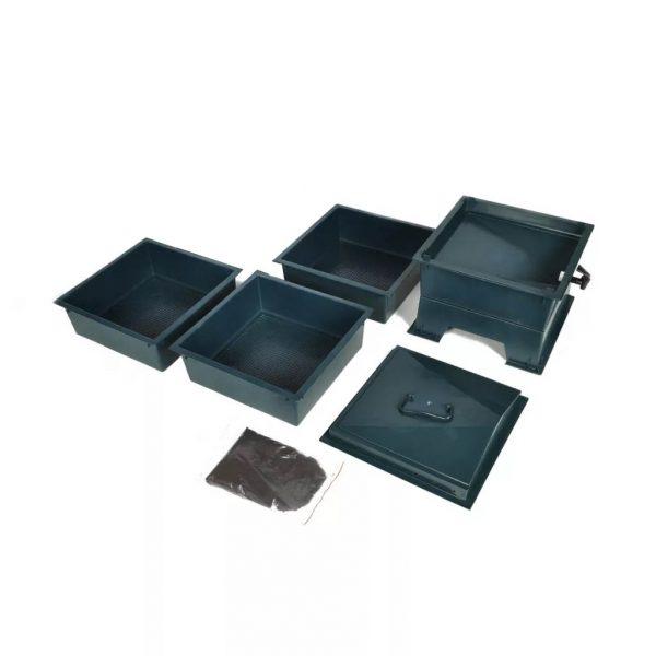 compostador de lombrices de 3 bandejas